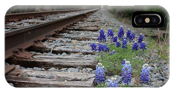 Railroad Bluebonnets IPhone Case