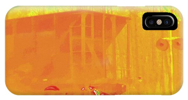 Railroad Signal iPhone Case - Railroad Car, Thermogram by Science Stock Photography