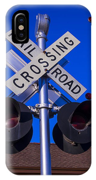 Railroad Station iPhone Case - Railroad Crossing by Garry Gay