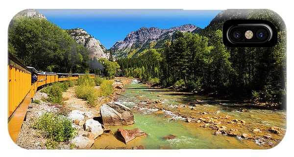 Anima iPhone Case - Railroad On The Animas River, San Juan by Russ Bishop