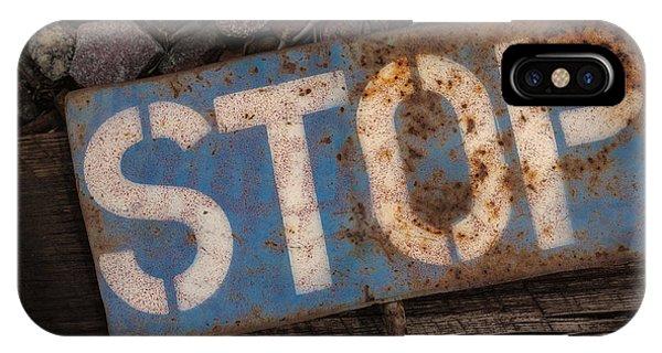 Railroad-stop Sign Phone Case by Joe Gemignani