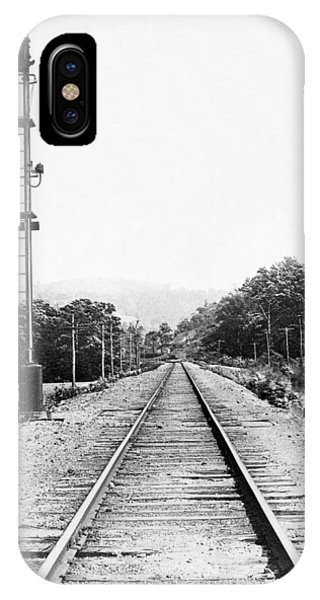 Railroad Signal iPhone Case - Railroad Train Signals by Underwood Archives