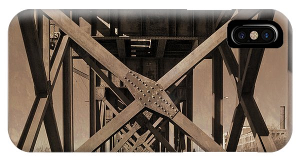 Railroad Trestle Sepia IPhone Case