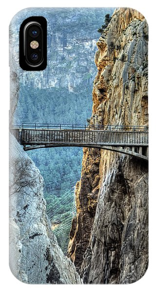 Railway Bridge In El Chorro IPhone Case