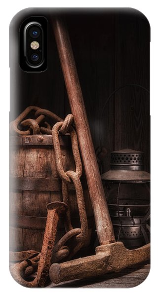 Whiskey iPhone Case - Railway Still Life by Tom Mc Nemar