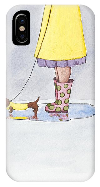 Rain Boots Phone Case by Christy Beckwith