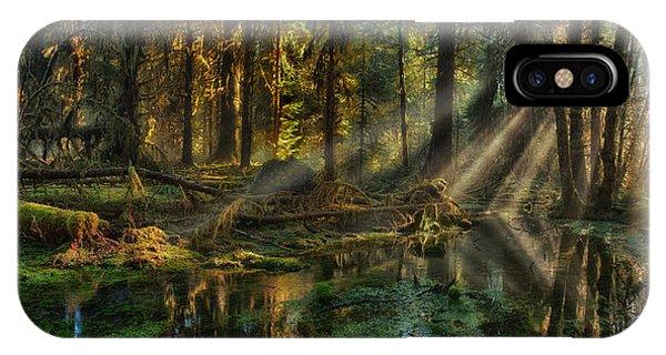 Rain Forest Sunbeams IPhone Case