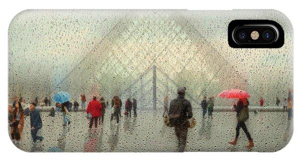French iPhone Case - Rain In Paris by Roswitha Schleicher-schwarz