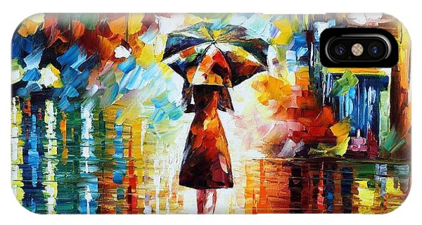 iPhone Case - Rain Princess - Palette Knife Figure Oil Painting On Canvas By Leonid Afremov by Leonid Afremov