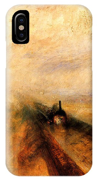 Train iPhone X Case - Rain Steam And Speed.  by J M W Turner