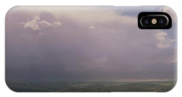 Rain Storm Over Exmoor Phone Case by Tony Craddock/science Photo Library