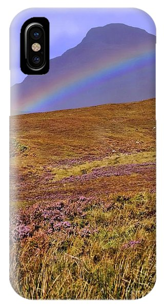 Rainbow And Heather IPhone Case