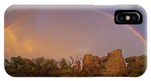 Rainbow At Chiricahua IPhone Case