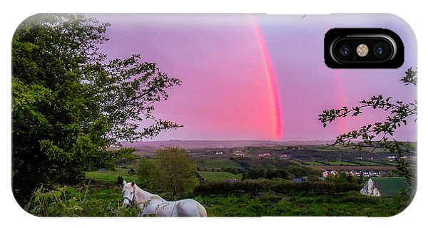 Rainbow At Sunset In County Clare IPhone Case