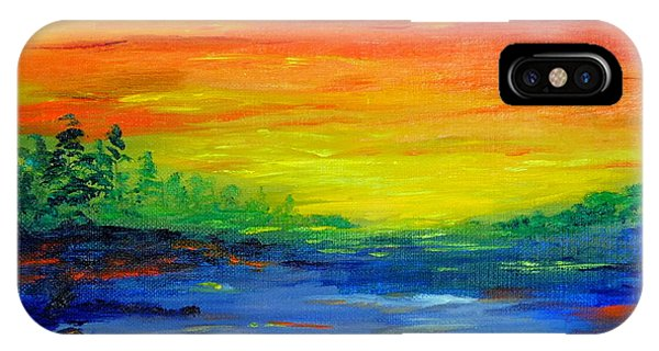 Rainbow Back Waters IPhone Case