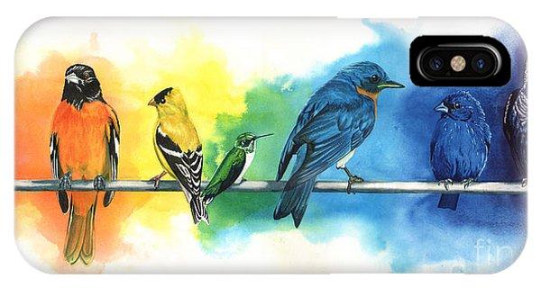 England iPhone Case - Rainbow Birds by Do'an Prajna - Antony Galbraith
