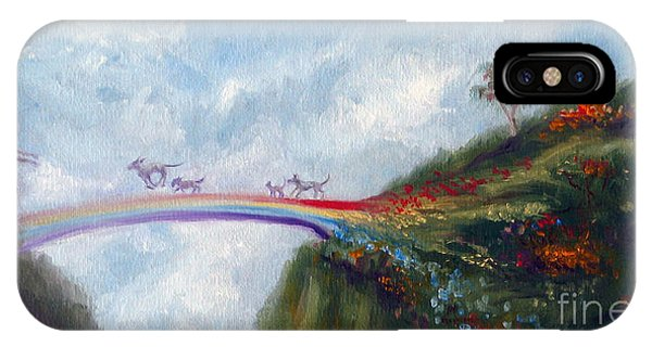 Pet iPhone Case - Rainbow Bridge by Stella Violano