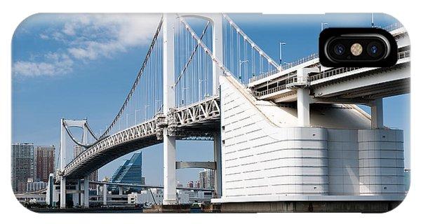 Odaiba iPhone Case - Rainbow Bridge Tokyo by Marta Holka