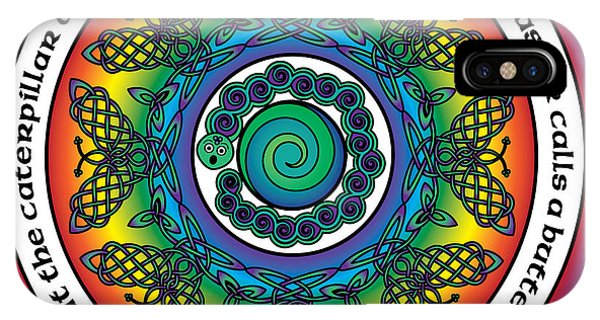 Rainbow Celtic Butterfly Mandala IPhone Case