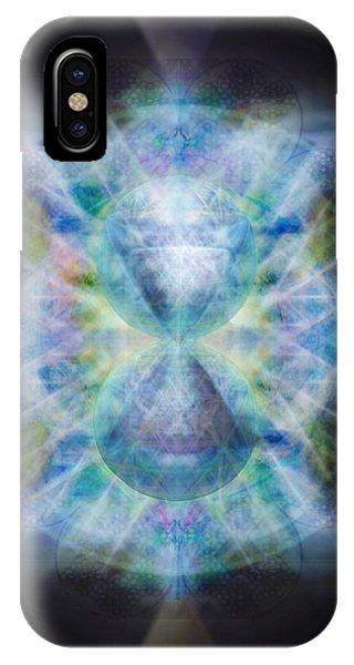Rainbow Chalice Cell Isphere Matrix II IPhone Case