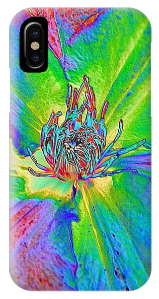 Rainbow Clematis IPhone Case
