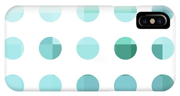 Industrial iPhone Case - Rainbow Dots Aqua  by Pixel Chimp