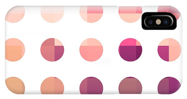 Rainbow Dots Rose IPhone Case