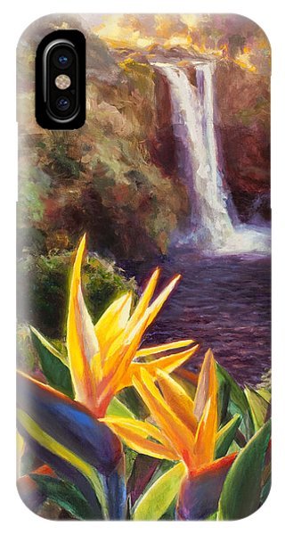 Rainbow Falls Big Island Hawaii Waterfall  IPhone Case
