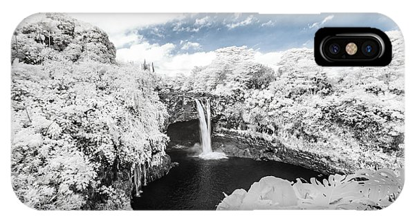 Rainbow Falls In Infrared 3 IPhone Case
