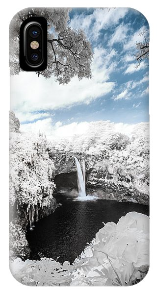 Rainbow Falls In Infrared 4 IPhone Case