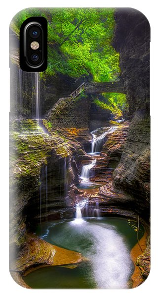 Rainbow Falls Of Watkins Glen IPhone Case