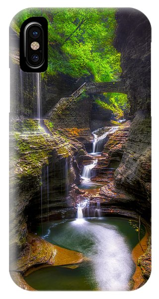 Rainbow Falls Of Watkins Glen IPhone Case
