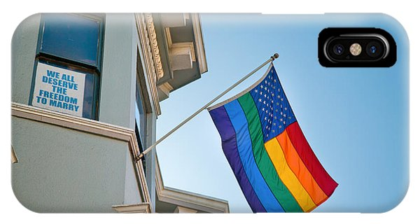 Gay Pride Flag iPhone Case - Rainbow Flag Marriage Equality by David Smith