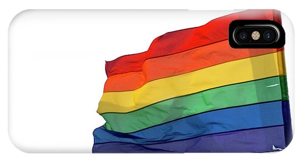 Gay Pride Flag iPhone Case - Rainbow Flag by Photostock-israel/science Photo Library