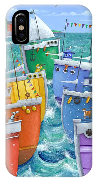 Illustration iPhone Case - Rainbow Flotilla by Peter Adderley