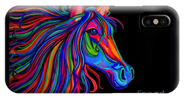 Rainbow Horse Head IPhone Case