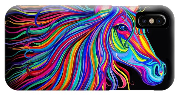 Rainbow Horse Too IPhone Case