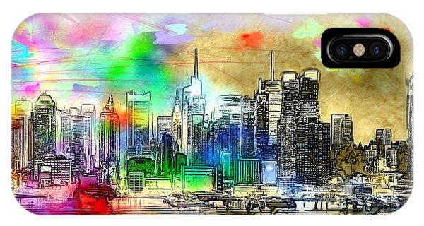 Rainbow Nyc Skyline IPhone Case