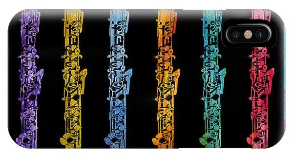 Rainbow Of Oboes IPhone Case