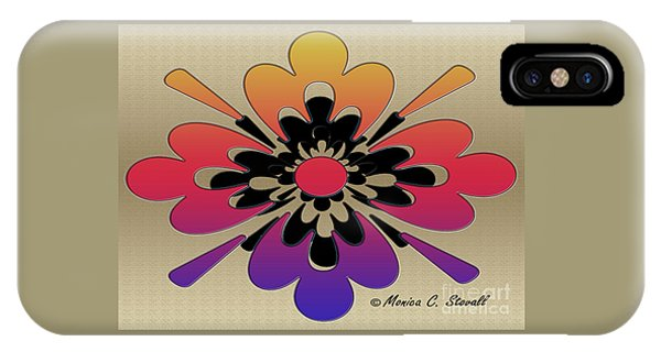Rainbow On Gold Floral Design IPhone Case