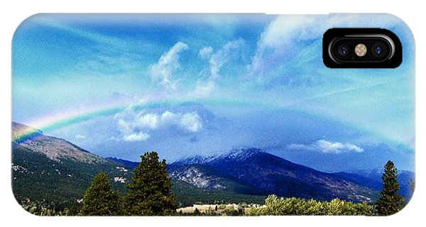 Rainbow Over Hamilton Montana IPhone Case