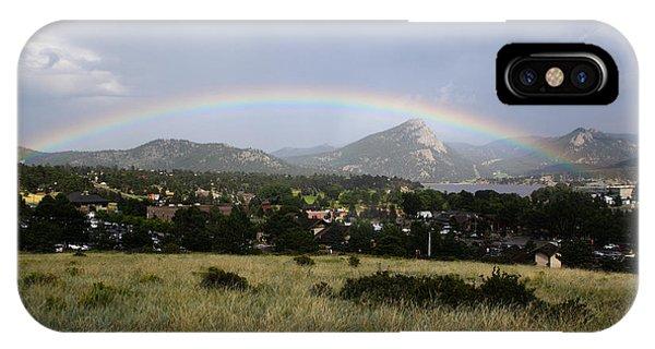 Rainbow Over Lake Estes IPhone Case