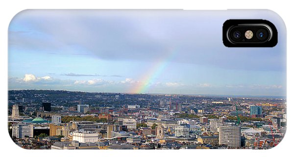 Rainbow Over London IPhone Case