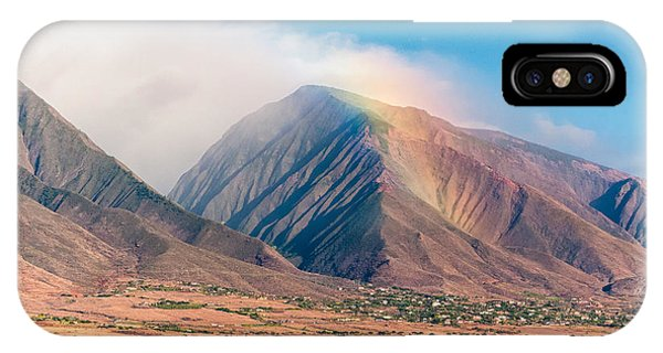 Rainbow Over Maui Mountains   IPhone Case