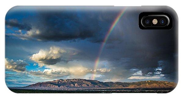 Rainbow Over The Sandias IPhone Case
