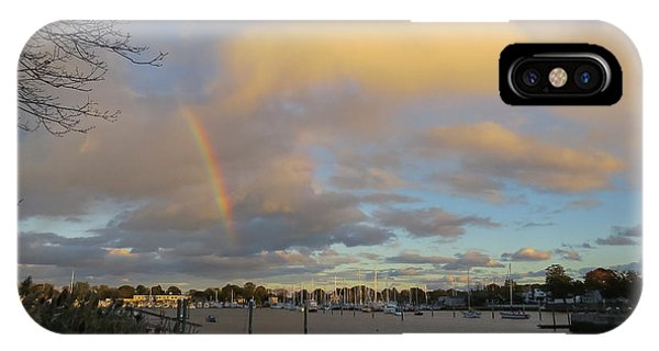 Rainbow Over Wickford IPhone Case
