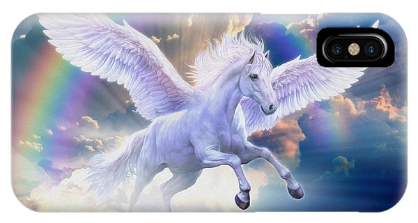 Rainbow Pegasus IPhone Case
