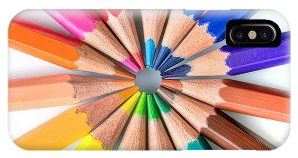 School iPhone Case - Rainbow Pencils by Delphimages Photo Creations