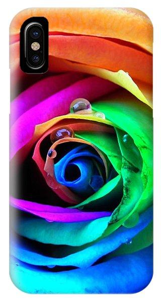 Rainbow Rose IPhone Case
