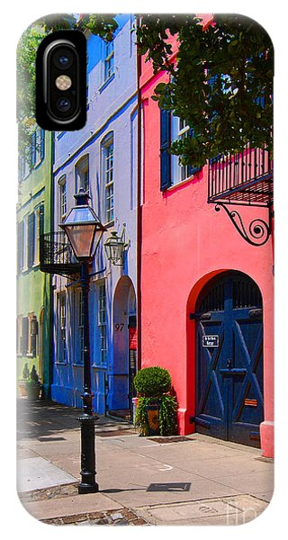 Rainbow Row Charleston IPhone Case